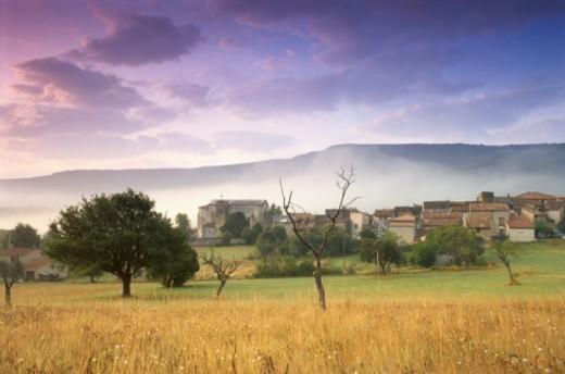 France, Haute Provence, Verdon Gorge scenic, spring : Stock Photo