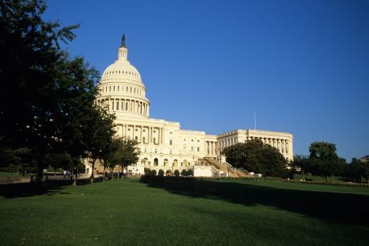 USA, Washington DC, exterior of Capitol Building : Stock Photo