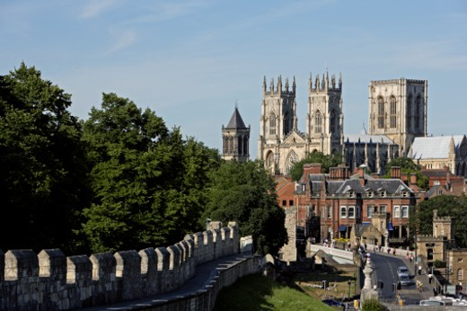 York Minster, the largest Gothic church in England, dates from the thirteenth century : Stock Photo