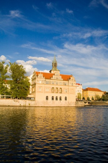 The Smetana Museum on the banks of the Vltava (Moldau) River in Prague, dedicated to the world famous Czech composer Bedrich Smetana. : Stock Photo
