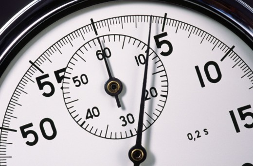 Stock Photo: 1672R-1935 Stop watch, close-up