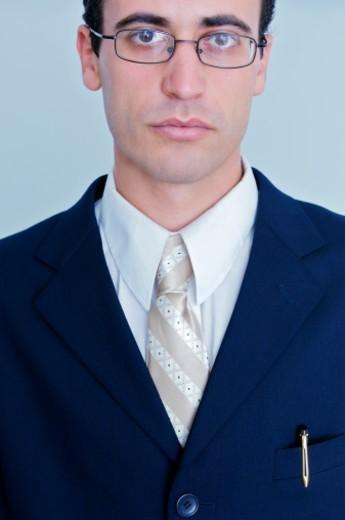 Young businessman, close-up, portrait : Stock Photo