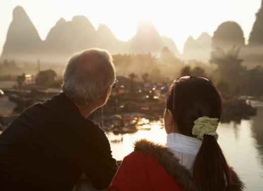 Stock Photo: 1672R-21288 China, Guangxi Province, Guilin, Yangshuo, Yulong River