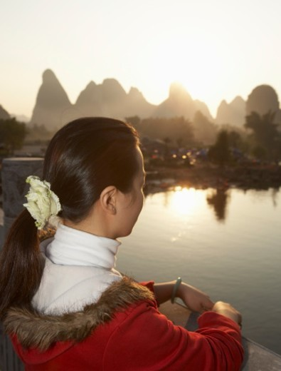 China, Guangxi Province, Guilin, Yangshuo, Yulong River : Stock Photo