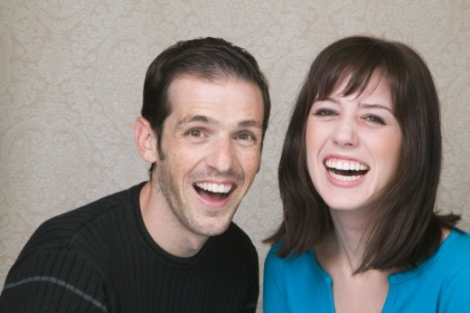Stock Photo: 1672R-21468 Couple laughing, portrait, head and shoulders