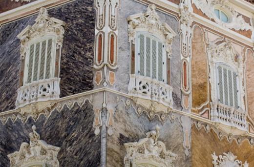 Spain, Valencia, Baroque building of National Ceramics Museum : Stock Photo