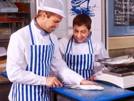 England, London, Parsons Green, Fishworks Restuarant : Stock Photo