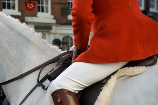 UK, Bromyard Herefordshire, annual Fox Hunt meeting : Stock Photo
