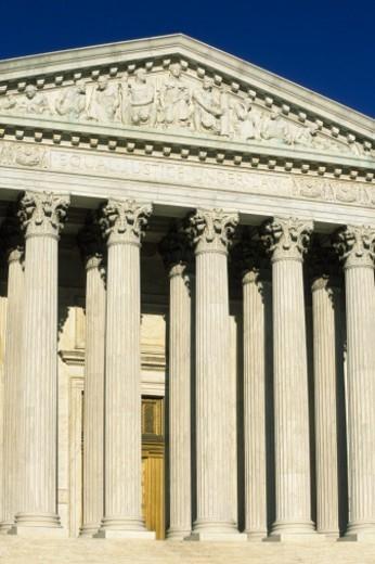 USA, Washington DC, US Supreme Court Building exterior : Stock Photo