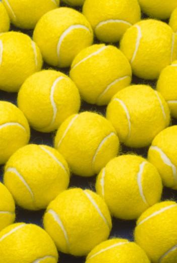 Tennis balls, full frame : Stock Photo