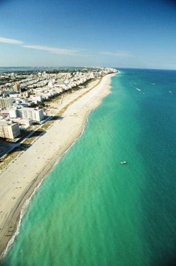 Stock Photo: 1672R-2778 USA, Florida, Miami, South Beach, aerial view