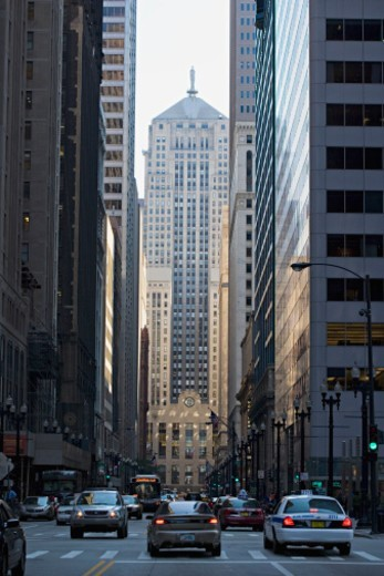 USA, Illinois, Chicago, business district : Stock Photo