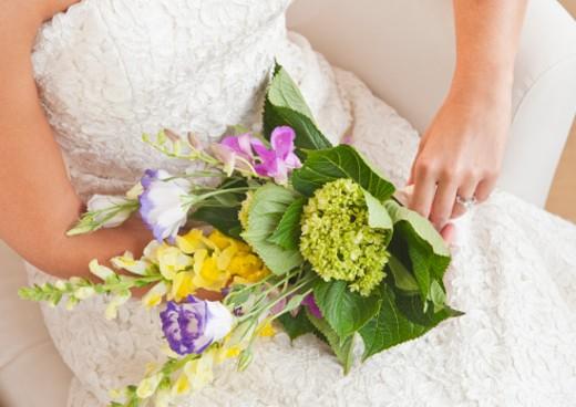bride's bouquet : Stock Photo