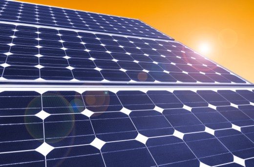 Solar panels : Stock Photo