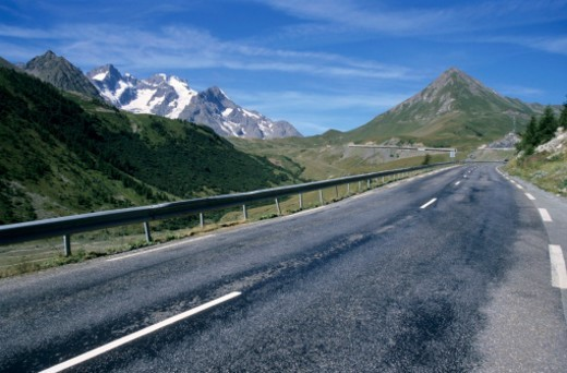 Road in the Frenc Alps going to la Garde village : Stock Photo
