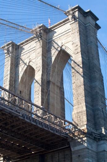 Stock Photo: 1672R-32632 Brooklyn Bridge