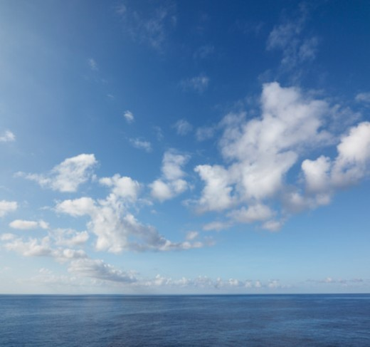 Stock Photo: 1672R-33590 Seascape with Sky