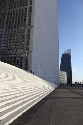 La Défense;the big arch : Stock Photo