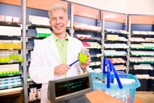 Stock Photo: 1672R-36856 Shooting in a apothecary´s shop