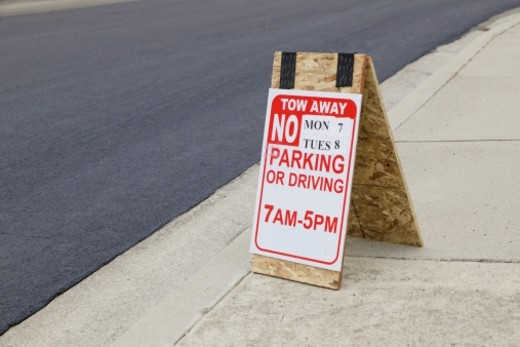 No Parking Zone sign : Stock Photo