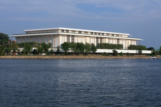 The Kennedy Center and Potomac River-Washington DC : Stock Photo