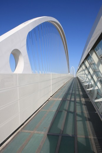 Footpath on Bridge : Stock Photo