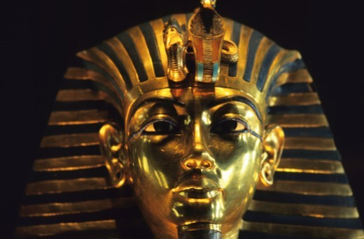Stock Photo: 1672R-41119 King Tut Death Mask - Cairo, Egypt