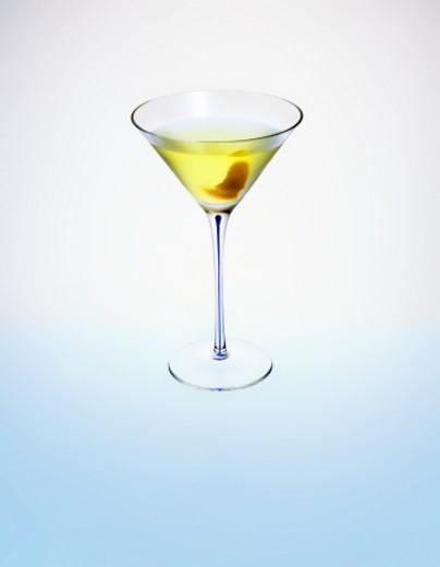 White Cosmopolitan cocktail in a martini glass : Stock Photo