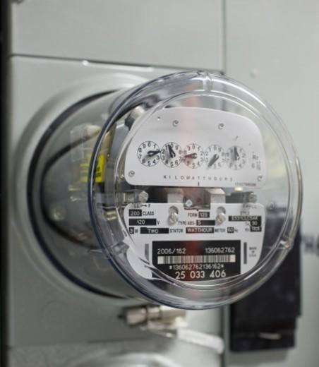 Electric meter : Stock Photo