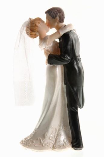 Stillife of an bridal couple doll : Stock Photo