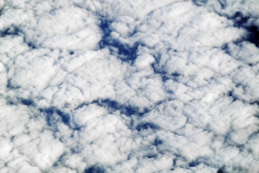 Stock Photo: 1672R-48184 Altocirrus formation, Clouds