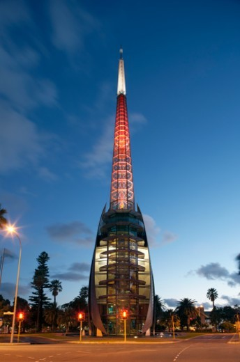 Swan Bell Tower in Perth at dusk, Australia. : Stock Photo