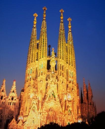 Sagrada Familia at dusk : Stock Photo