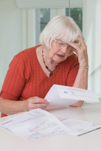 Stock Photo: 1672R-52212 high cost of living in retirement