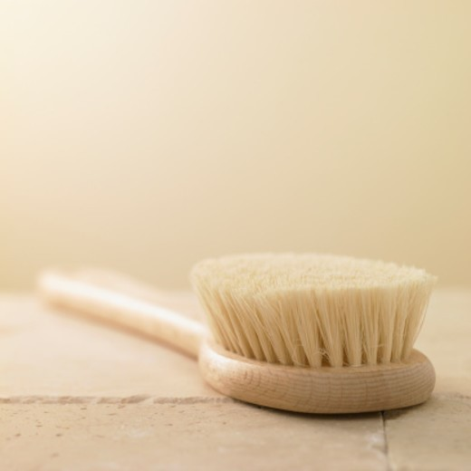 Stock Photo: 1672R-53391 Scrubbing brush, close up