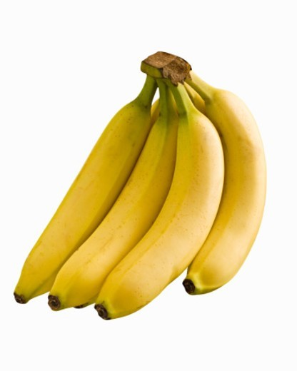 Bananas on white background, studio shot : Stock Photo