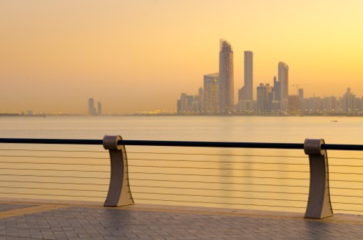 United Arab Emirates, Abu Dhabi, City Skyline : Stock Photo