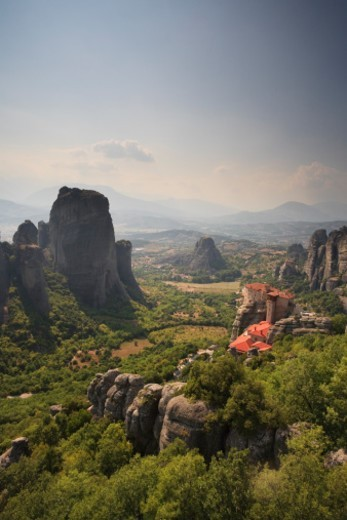 Greece, Thessaly, Meteora, Holy Monastery of Rousanou : Stock Photo