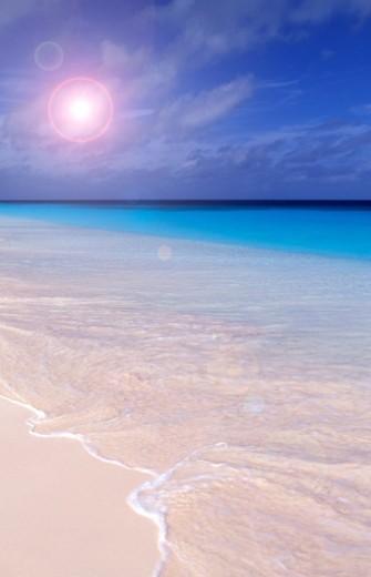 Pink Beach, Bonaire, Netherland Antilles : Stock Photo