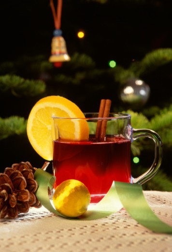 Stock Photo: 1672R-57440 Hot mulled wine is a favorite holiday drink.