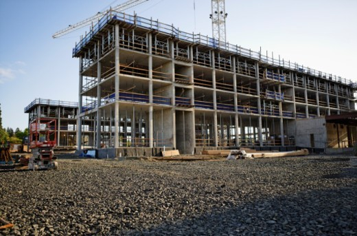 Commercial building under construction : Stock Photo