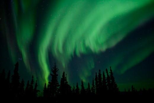 Stock Photo: 1672R-63278 Aurora Borealis