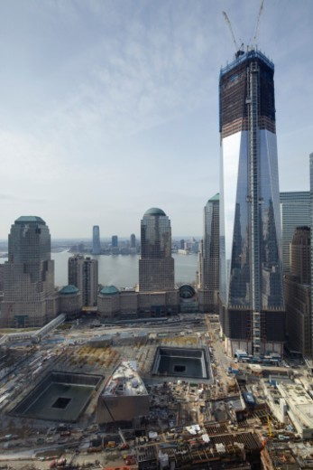 Stock Photo: 1672R-63584 World Trade Center, New York City, ny ground zero