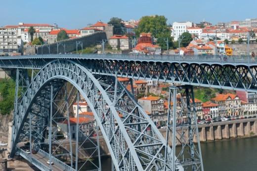 Stock Photo: 1672R-64149 Dom Luis I bridge, Porto, Portugal,
