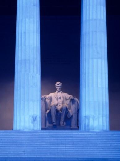 Abraham Lincoln Memorial at dawn : Stock Photo