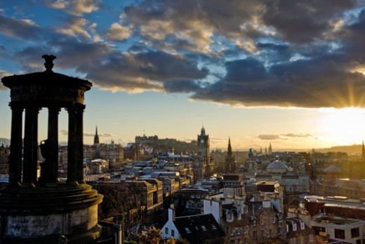 Stock Photo: 1672R-66422 Edinburgh skyline, looking from Carlton Hill