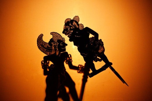 Stock Photo: 1672R-66791 Shadow, or wayang,  puppets, Ubud , Bali