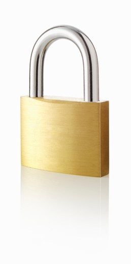 Stock Photo: 1672R-68157 Locked padlock