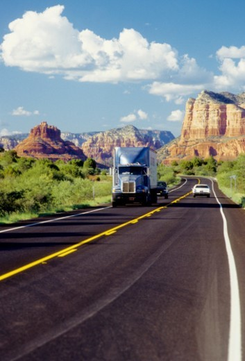 Scorcio della strada verso Sedona : Stock Photo