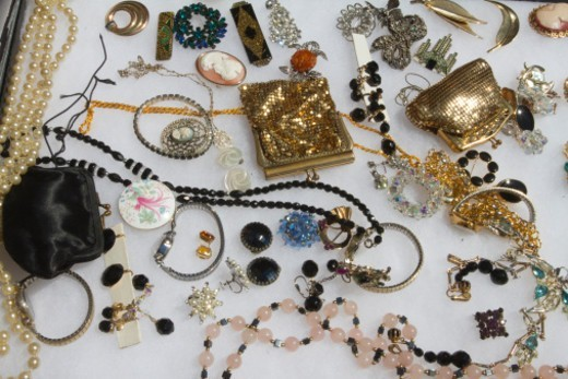 Stock Photo: 1672R-70579 Flea market display of jewellery